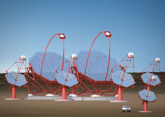 Rendering of the CTA array
