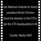 The INAF president Nicolò D'Amico talks about CTA HQ in Bologna